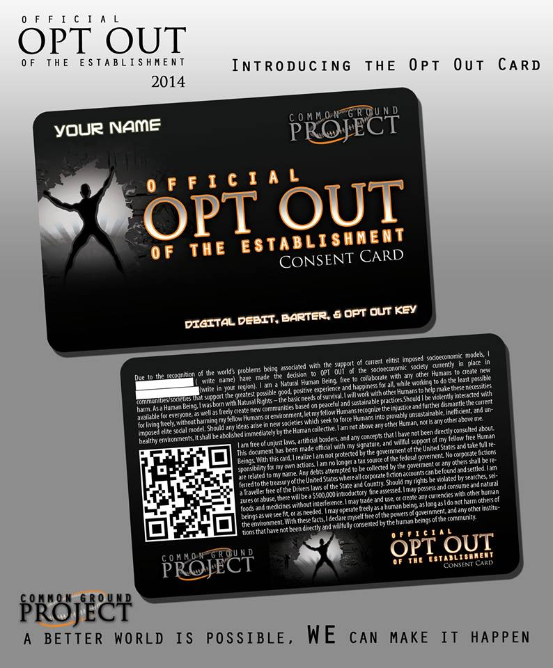 opt out card